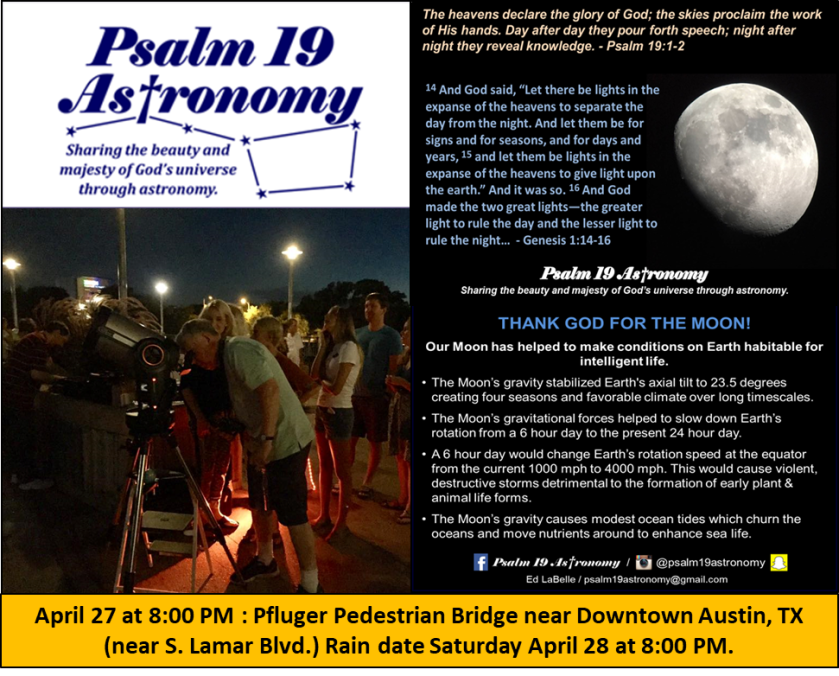 April 27 2018 Flyer Psalm 19